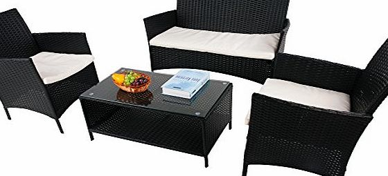 BTM Rattan Garden Furniture sets patio furniture set garden furniture clearance sale furniture rattan garden furniture set table chairs sofa patio conservatory wicker (4 seaters)