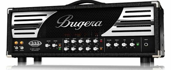 Bugera 333 Infinium Hardcore 120W 3 Channel Valve Amplifier Head with Reverb and INFINIUM Valve Life Multiplier