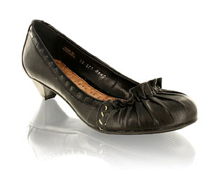 Fab Court Shoe With Ruche Detail