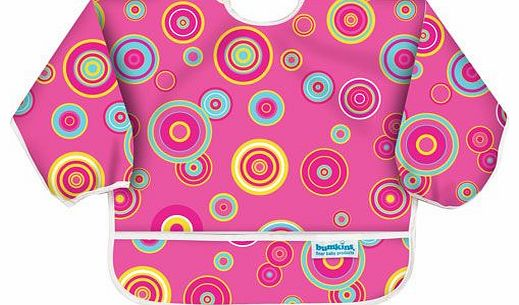 Sleeved Bib Pink Circles 2014