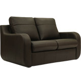 Monaro Hide 2 Seater Deluxe Sofa Bed In Black Leather