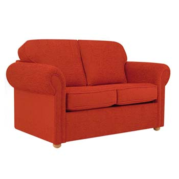 Buoyant Tay 2 Seater Sofa Bed in Red with Sprung