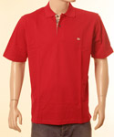 Red Polo Shirt With Burberry Trim