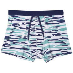 1 Pack Blue Camo Trunk Underwear