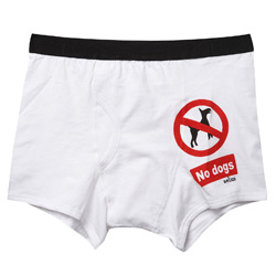 1 Pair of No Dogs Trunks