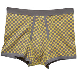 1PK Checkerboard Print Trunks