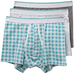 3 Pack Gingham Check Trunks