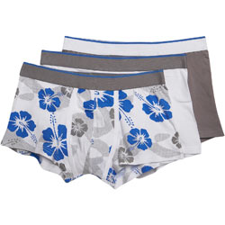 3 Pack Grey Hibiscus Trunks