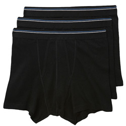 3 Pack of Black Trunk Underwear
