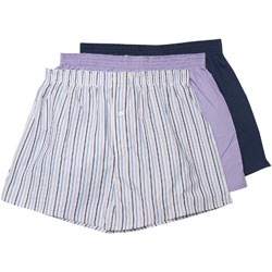 3 Pack Purple Woven Boxers