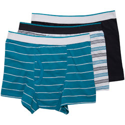 3 Pack Turquoise Stripe Trunks