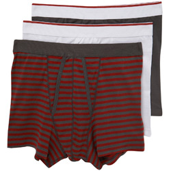 3PK Blck Stripe Trunks