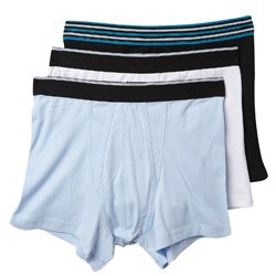 3Pk Cobalt Stripe Trunks