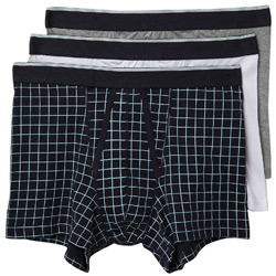 3PK Grid Print Trunks