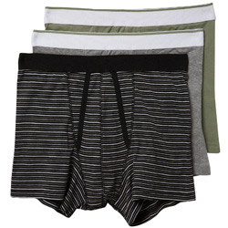 3PK Khaki Stripe Trunks