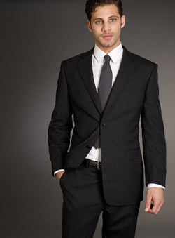 Balmain Black Stripe Suit Jacket