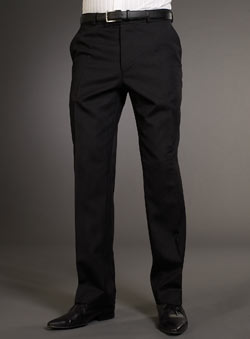 Balmain Black Stripe Suit Trousers
