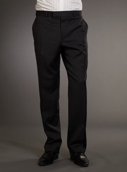 Balmain Grey Stripe Suit Trousers