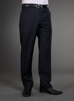 Balmain Navy Stripe Suit Trousers
