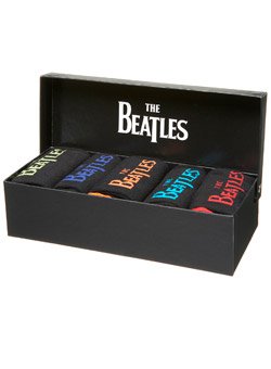 Beatles 5 Pack Sock Gift Box Set