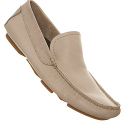 Beige Suede Driving Loafers