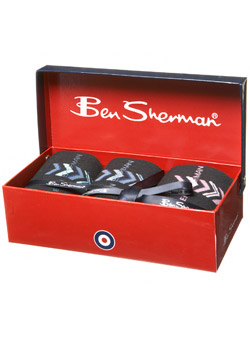 Ben Sherman 3 Pack Sock Gift Set