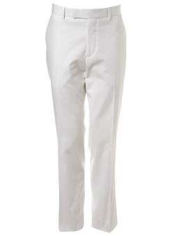 Ben Sherman White Twill Suit Trousers