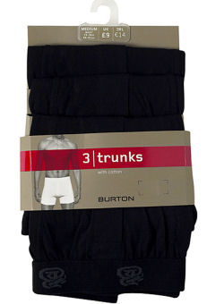 Black 3 Pack Trunks