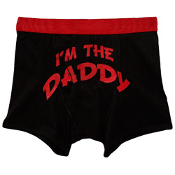 Black andquot;Iand#39;m The Daddyandquot; Print Trunk Underwear
