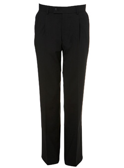 Black Bengaline Suit Trousers