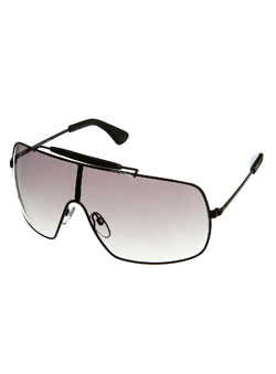 Black Big Visor Frame Sunglasses