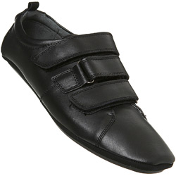 Black Casual Triple Velcro