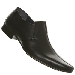 Black Centre Seam Point Slip On