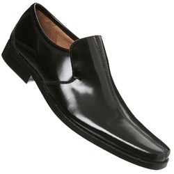 Black Chisel Toe Lace Up Sorrento Shoe
