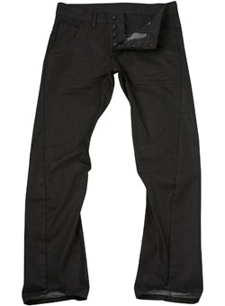 Black Coated Twisted Jeans