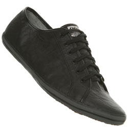 Black Crinkle Lace Up Sports Shoe