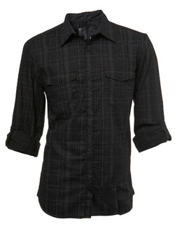 Black Grid Check Shirt