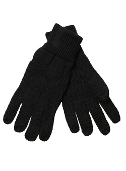 Black Knitted Glove