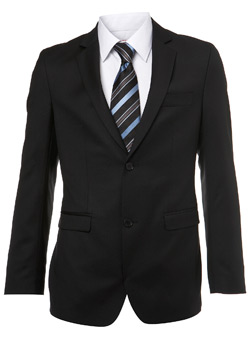 Black Label Black Wool Suit Jacket