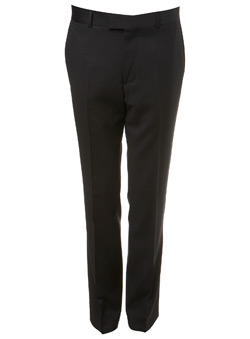 Black Label Black Wool Suit Trousers