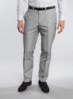 Black Label Grey Striped Trousers