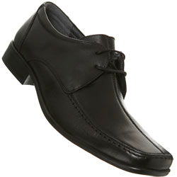 Black Lace Up Centre Seam Loafers