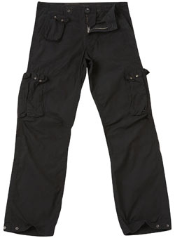 Black Multi Pocket Cargo Trousers