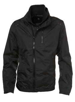 Black Nylon Double Zip Jacket