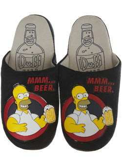 Black `omer Simpson`Slippers