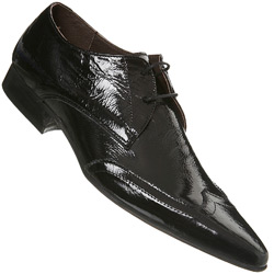 Black Patent Lost Souls Brogue Shoe