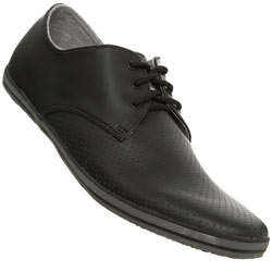 Black Perforated Toe Sports Shoe