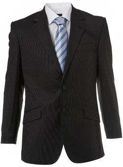 Black Pinstripe Essential Suit Jacket