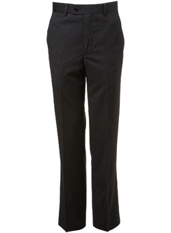 Black Pinstripe Essential Suit Trousers