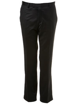 Black Premium Wool Suit Trousers